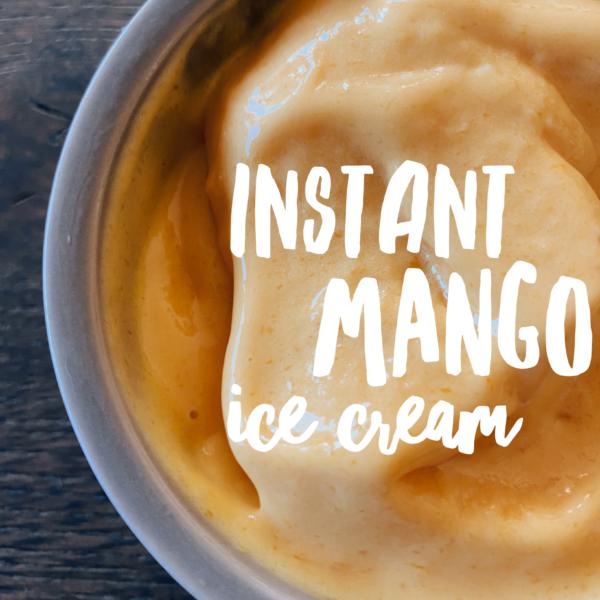 Instant Mango Ice Cream