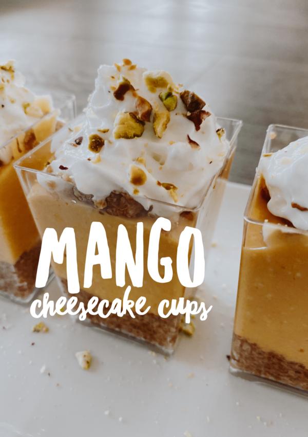 Mango Cheesecake Cups
