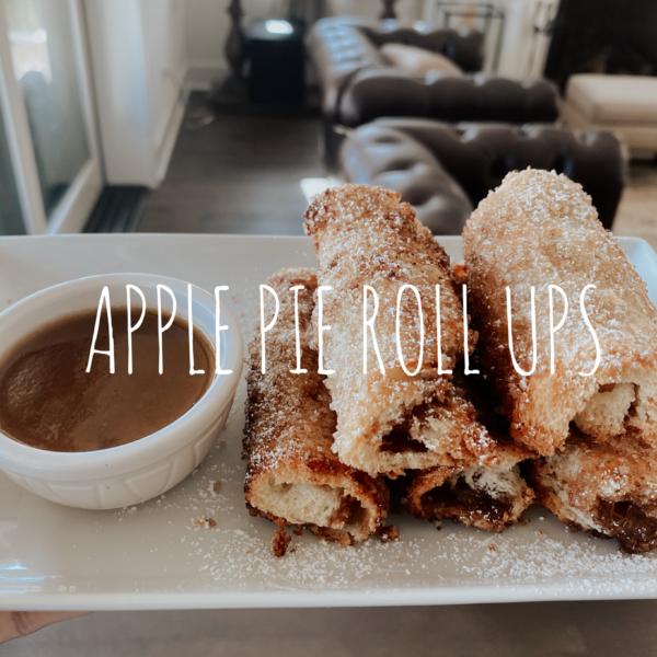 Cinnamon Sugar Apple Pie Roll Ups