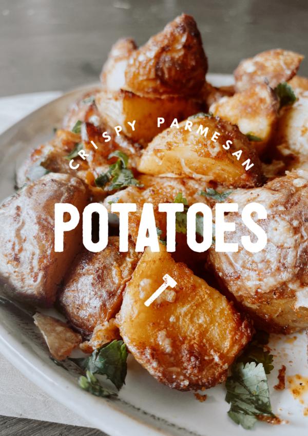 Crispy Parmesan Potatoes