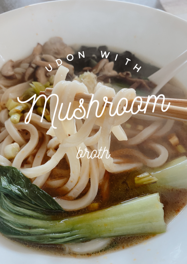 Udon Noodles with Mushroom Broth